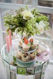 Petit gâteau de fraise Photographie stock libre de droits