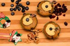 Petit gâteau de Noël de Vegan Photos libres de droits