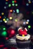 Petit gâteau de Santa Claus Photographie stock