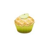 Petit gâteau de tarte aux pommes Photographie stock libre de droits