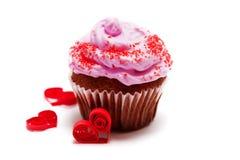 Petit gâteau de Valentine Image stock