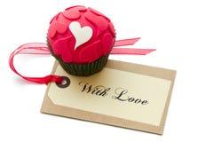 Petit gâteau de Valentine Photo stock