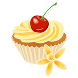Petit gâteau de vanille illustration libre de droits