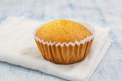 Petit gâteau fait maison de vanille Photos libres de droits