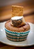 Petit gâteau grillé de smore Photo stock