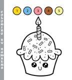 Petit gâteau par des nombres Image libre de droits
