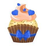 Petit gâteau romantique le jour de Valentine s Image stock