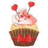 Petit gâteau romantique le jour de Valentine s Photographie stock