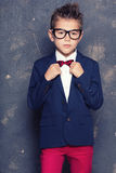 Petit garçon élégant dans le costume Photo libre de droits