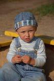 Petit garçon actif Images stock