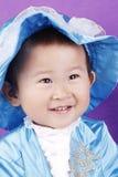 Petit garçon asiatique dans le bleu Images stock
