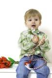 Petit garçon au printemps Images libres de droits