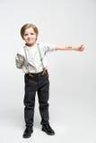 Petit garçon avec amour de mot Images libres de droits