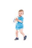 Petit garçon avec l'ours de nounours Photo stock