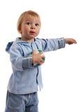 Petit garçon avec la bille photos libres de droits