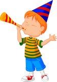 Petit garçon avec la trompette illustration libre de droits