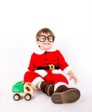 Petit garçon avec le costume de Santa photographie stock