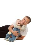 Petit garçon avec le père. Photos stock