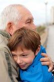 Petit garçon avec son père Image stock