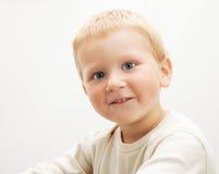 Petit garçon blond Images stock