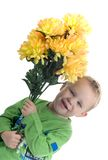 Petit garçon blond Photographie stock libre de droits