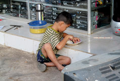 Petit garçon cambodgien Photos libres de droits