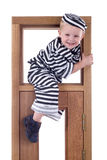 Petit garçon dans l'équipement de voleur Photo libre de droits