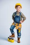 Petit garçon dans la ceinture d'outil Images libres de droits