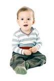 Petit garçon dans le pull de bande image libre de droits
