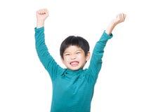 Petit garçon de l'Asie excité Images stock