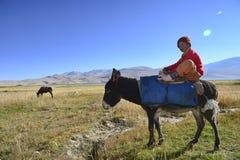 Petit garçon de l'Himalaya Images libres de droits