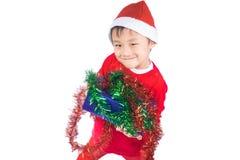Petit garçon de Santa Claus Image stock