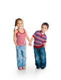 Petit garçon et fille Photographie stock libre de droits
