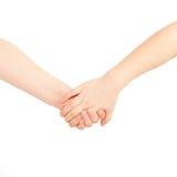 Petit garçon et fille tenant des mains. Amitié et  Image libre de droits