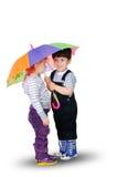 Petit garçon et petite fille Photographie stock