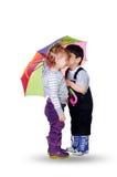 Petit garçon et petite fille Photo stock