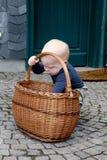 Petit garçon et pommes photo libre de droits