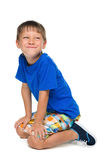 Petit garçon gai photo libre de droits