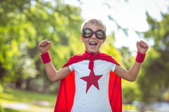Petit garçon habillé comme Superman Photo libre de droits