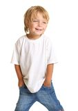 Petit garçon heureux d'isolement Photos libres de droits