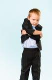 Petit garçon malheureux Image libre de droits