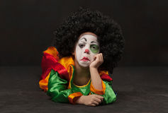petit gar on maquillage de clown africain image libre de. Black Bedroom Furniture Sets. Home Design Ideas
