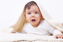 Petit garçon mignon après bain Image libre de droits