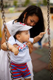 Petit garçon mignon avec la mère et le papa Photographie stock