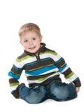 Petit garçon mignon dans un swetear images stock