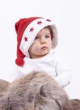 Petit garçon mignon de Santa Image stock