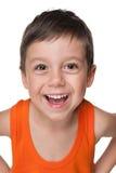 Petit garçon riant Image libre de droits