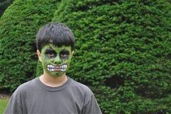 Petit garçon vert Photo libre de droits