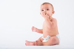 Petit garçon curieux Image libre de droits
