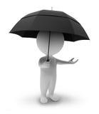 petit gens-parapluie 3d Photos libres de droits
